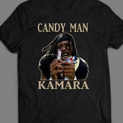 ALVIN KAMARA CANDY MAN FOOTBALL INSPIRED Tops Tee T Shirt 41 NEW ORLEANS FULL FRONT Colorful