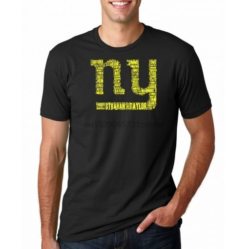 AMERICAN FOOTBALL ALL PLAYERS LOGO TEAM NEW YORK GIANT SHIRTS