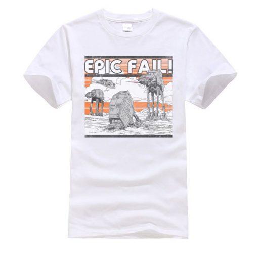 AT AT Epic Fail Star Wars Mens Tshirt Darth Vader Faddish Tops Shirts O Neck Summer 1
