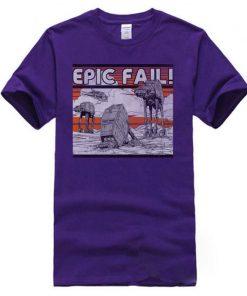 AT AT Epic Fail Star Wars Mens Tshirt Darth Vader Faddish Tops Shirts O Neck Summer 2
