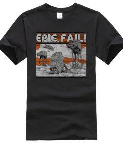 AT AT Epic Fail Star Wars Mens Tshirt Darth Vader Faddish Tops Shirts O Neck Summer