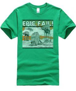 AT AT Epic Fail Star Wars Mens Tshirt Darth Vader Faddish Tops Shirts O Neck Summer 3