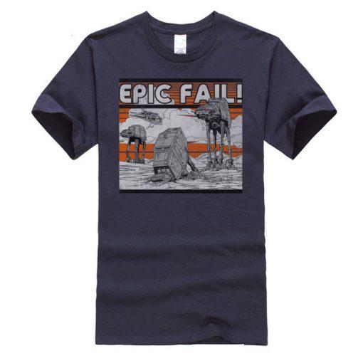 AT AT Epic Fail Star Wars Mens Tshirt Darth Vader Faddish Tops Shirts O Neck Summer 4