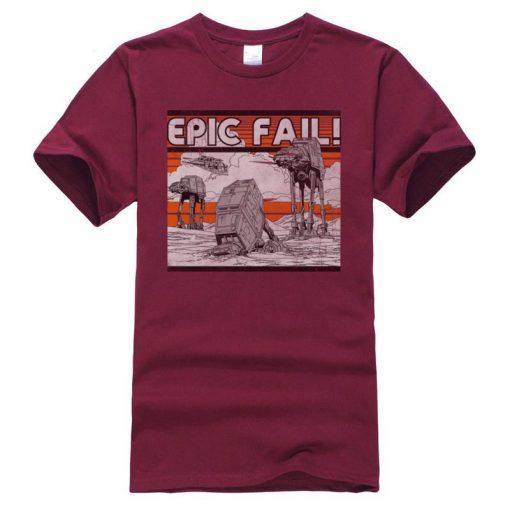 AT AT Epic Fail Star Wars Mens Tshirt Darth Vader Faddish Tops Shirts O Neck Summer 5