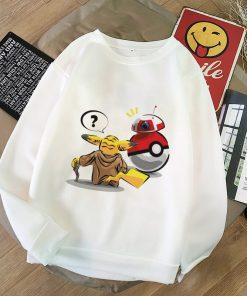 Aesthetic Harajuku Hoodies Baby Yoda Shirt Sweatshirt Pokemon Women Hoodies Women Kawaii Clothes Sweat Femme Thicken 2