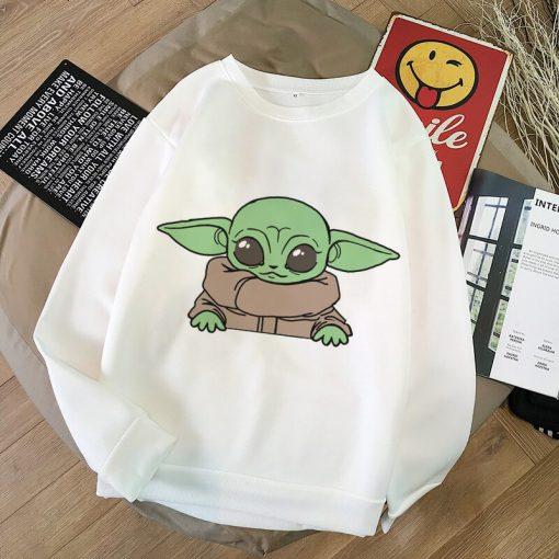 Aesthetic Harajuku Hoodies Baby Yoda Shirt Sweatshirt Pokemon Women Hoodies Women Kawaii Clothes Sweat Femme Thicken 3