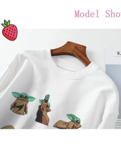 Aesthetic Harajuku Hoodies Baby Yoda Shirt Sweatshirt Pokemon Women Hoodies Women Kawaii Clothes Sweat Femme Thicken 5