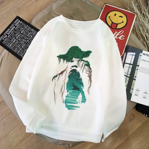 Aesthetic Harajuku Hoodies Baby Yoda Shirt Sweatshirt Pokemon Women Hoodies Women Kawaii Clothes Sweat Femme Thicken