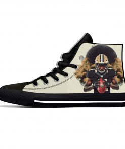 Alvin Kamara New Orleans Football Star Fans Fashion Lightweight High Top Canvas Shoes Men Women Casual 1