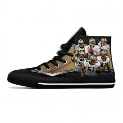 Alvin Kamara New Orleans Football Star Fans Fashion Lightweight High Top Canvas Shoes Men Women Casual 2