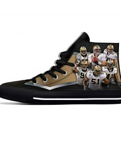 Alvin Kamara New Orleans Football Star Fans Fashion Lightweight High Top Canvas Shoes Men Women Casual 2