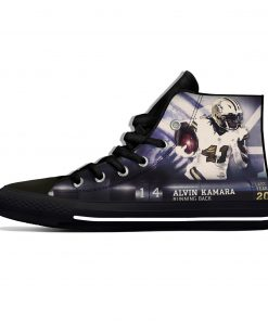 Alvin Kamara New Orleans Football Star Fans Fashion Lightweight High Top Canvas Shoes Men Women Casual