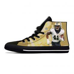 Alvin Kamara New Orleans Football Star Fans Fashion Lightweight High Top Canvas Shoes Men Women Casual 3