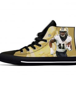 Alvin Kamara New Orleans Football Star Fans Fashion Lightweight High Top Canvas Shoes Men Women Casual 3