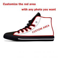 Alvin Kamara New Orleans Football Star Fans Fashion Lightweight High Top Canvas Shoes Men Women Casual 4