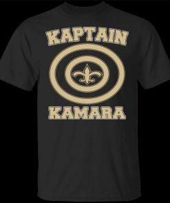 Alvin Kamara T Shirt Kaptain New Orleans Football Tee Shirt Short Sleeve S 3Xl Brand Clothing