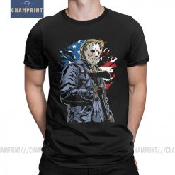 American Horror T Shirt Men Cotton Leisure T Shirts Halloween Friday the 13th Jason Voorhees Freddy