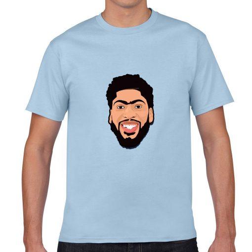 Anthony Davis Cartoon Avatar Basketball Jersey Tee Shirts Los Angeles Lakers streetwear tshirt 1