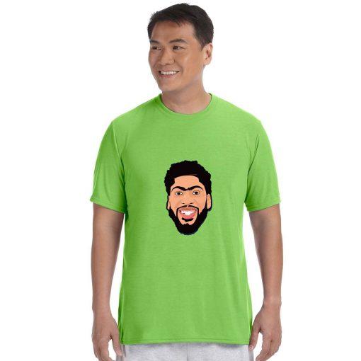 Anthony Davis Cartoon Avatar Basketball Jersey Tee Shirts Los Angeles Lakers streetwear tshirt 2