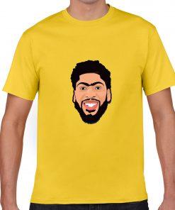 Anthony Davis Cartoon Avatar Basketball Jersey Tee Shirts Los Angeles Lakers streetwear tshirt 3