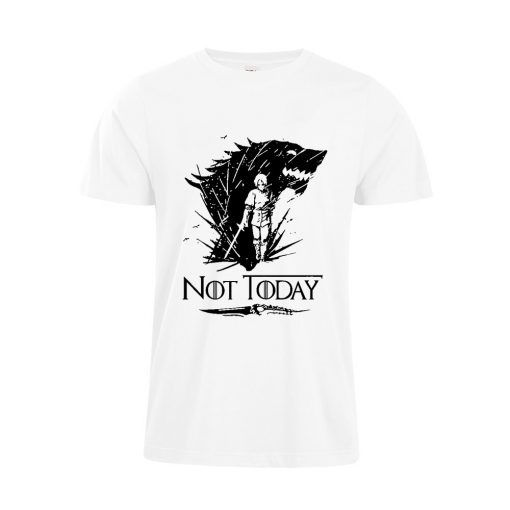 Arya Stark T Shirt Game Of Thrones printing Not Today Tshirt Leisure Comfortable Tops 2