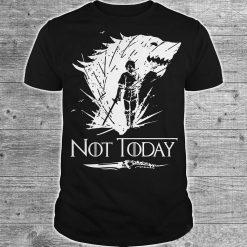 Arya Stark T Shirt Game Of Thrones printing Not Today Tshirt Leisure Comfortable Tops