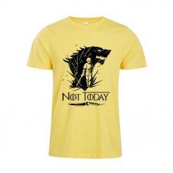 Arya Stark T Shirt Game Of Thrones printing Not Today Tshirt Leisure Comfortable Tops 4