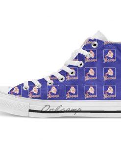 Atlanta Baseball Braves Baseball Element High Top Canvas Shoes Flat Casual Custom Unisex Sneaker Drop Shipping 1