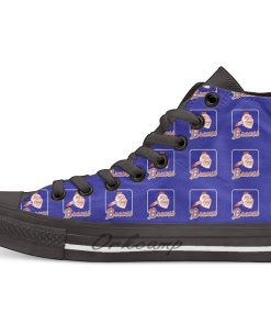 Atlanta Baseball Braves Baseball Element High Top Canvas Shoes Flat Casual Custom Unisex Sneaker Drop Shipping