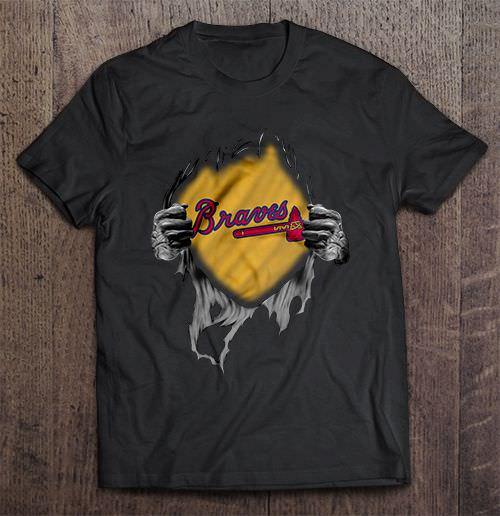 Atlanta Print O Neck Braves Heart Major Streetwear Harajuku League Men S Tshirt Hip Hop Baseball