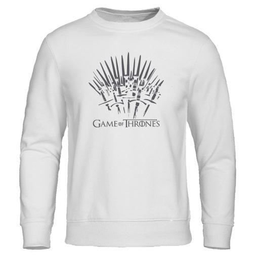 Autumn Warm brand Clothing Game of Thrones Hoodies Men print Sweatshirt fashion Pullover winter is coming 2