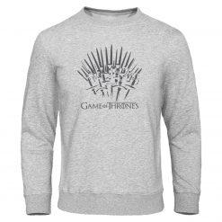 Autumn Warm brand Clothing Game of Thrones Hoodies Men print Sweatshirt fashion Pullover winter is coming