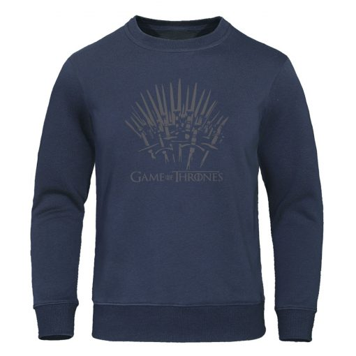 Autumn Warm brand Clothing Game of Thrones Hoodies Men print Sweatshirt fashion Pullover winter is coming 3
