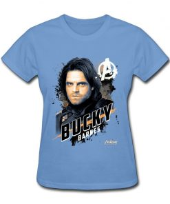 Avengers Bucky Women s Tshirts Top Quality Crew Neck Cotton Tops Tees 3D Printed Clothing Shirt