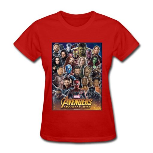 Avengers Infinity War All Gather Women Tshirt Together To Fight Printed Power Heros Spiderman T Shirt 1