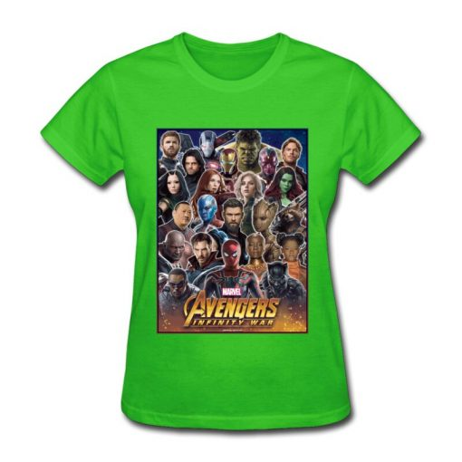 Avengers Infinity War All Gather Women Tshirt Together To Fight Printed Power Heros Spiderman T Shirt 2