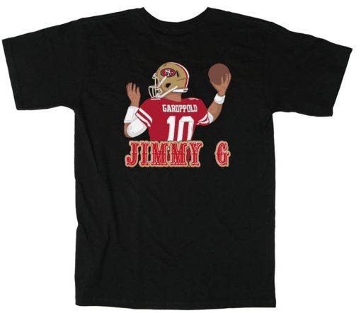 BLACK Jimmy Garoppolo San Francisco 49ers JIMMY G T Shirt Hip hop Tops Tee Shirt