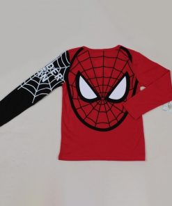 Baby Boys T Shirts Kids Cartoon Spiderman Long Sleeve T shirt Child Patchwork Clothes Autumn Spring 1