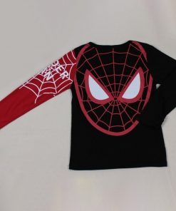Baby Boys T Shirts Kids Cartoon Spiderman Long Sleeve T shirt Child Patchwork Clothes Autumn Spring 3