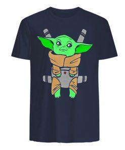Baby Yoda Carrier Back Men s T Shirt 2