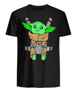 Baby Yoda Carrier Back Men s T Shirt