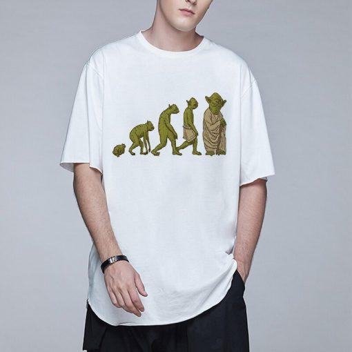 Baby Yoda Mandalorian Men T Shirt Harajuku Star Wars T Shirt Hip Hop Men Top Tees 2