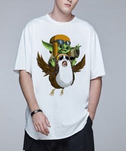 Baby Yoda Mandalorian Men T Shirt Harajuku Star Wars T Shirt Hip Hop Men Top Tees