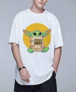 Baby Yoda Mandalorian Men T Shirt Harajuku Star Wars T Shirt Hip Hop Men Top Tees 3