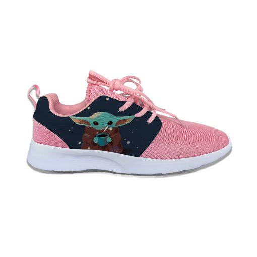 Baby Yoda Mandalorian Star Wars Cartoon Cute Vogue Sport Running Shoes Lightweight Breathable 3D Print Girl 2