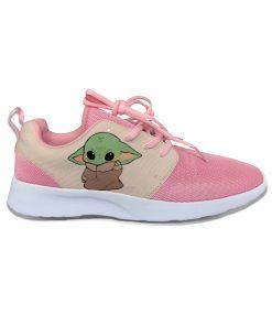 Baby Yoda Mandalorian Star Wars Cartoon Cute Vogue Sport Running Shoes Lightweight Breathable 3D Print Girl