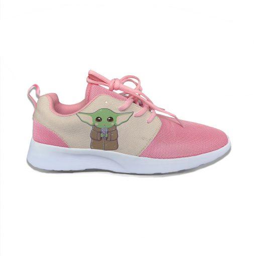 Baby Yoda Mandalorian Star Wars Cartoon Cute Vogue Sport Running Shoes Lightweight Breathable 3D Print Girl 3