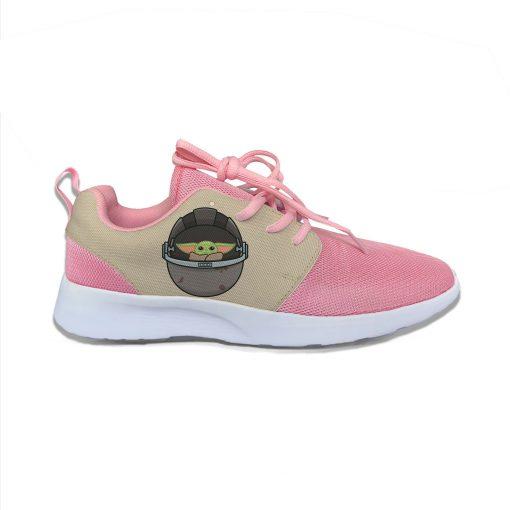 Baby Yoda Mandalorian Star Wars Cartoon Cute Vogue Sport Running Shoes Lightweight Breathable 3D Print Girl 4