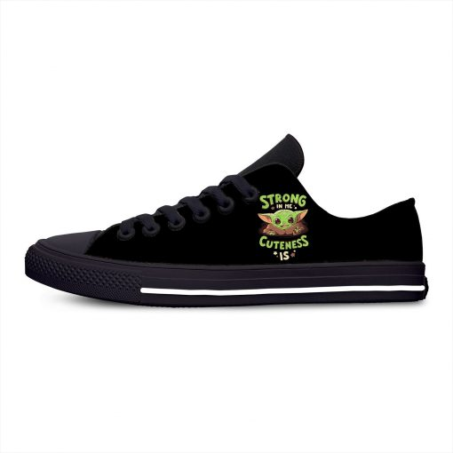 Baby Yoda Mandalorian Star Wars Cartoon Hot Funny Casual Canvas Shoes Low Top Lightweight Breathable 3D 11
