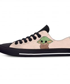 Baby Yoda Mandalorian Star Wars Cartoon Hot Funny Casual Canvas Shoes Low Top Lightweight Breathable 3D 7